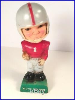 Vintage 1968 Morro Inc Football BobbleHead Lot X2 Bucks Chiefs Rare