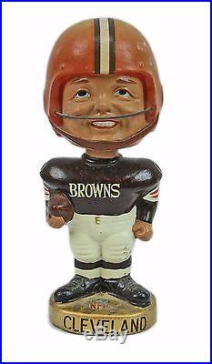 Vintage 1968 NFL Football Cleveland Browns Gold Base Bobble Head Nodder Doll