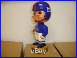 Vintage 1968 NY Giants Football Nodder Bobbin Head Gold Base EX-MT/NM