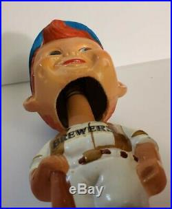 Vintage 1970's Milwaukee Brewers Bobblehead with ORIGINAL BOX Great Condition