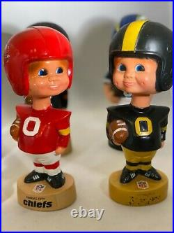 Vintage 1970s LOT OF 8 NFL Mascot Bobblehead Nodder