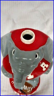 Vintage 1975 Alabama Crimson Tide Big Al Mascot Ceramic Decanter 28-0 Iron Bowl