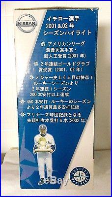 Vintage 2003new In Boxseattle Mariners Ichiro'326 Wall' Nissan Bobblehead