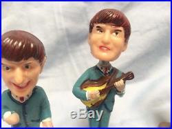 Vintage 60's BEATLES bobble head cake toppers nodders fab 4 complete set