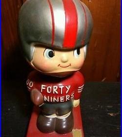 Vintage 60s San Francisco SF 49ers Bobble Head bobblehead football forty niners