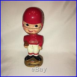 Vintage AFL NFL Kansas City Chiefs Football Bobble Head by Sports Specialties