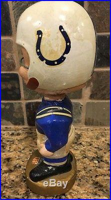 Vintage Baltimore Colts 1960's NFL Bobblehead Nodder. With Box. 1967 Rare
