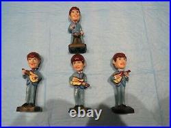 Vintage Beatles Bobble Heads Full Set