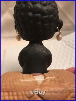 Vintage Black Americana Bobble Head Bank Black Americana Nodder Japan Watermelon