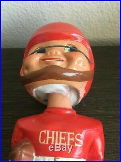Vintage Bobblehead Kansas City Chiefs Extremely Scarce AFL Gold Base Nodder Rare