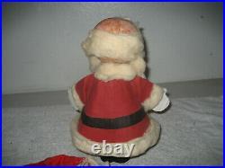 Vintage Buster brown shoes paper mache bobble head santa Claus store display