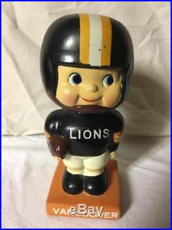 Vintage CFL Vancouver Lions Bobble Head Bobbing Head Bobbin Head Football Nodder