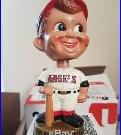 Vintage California Angels Baseball Bobblehead Japan gold base with halo Mint