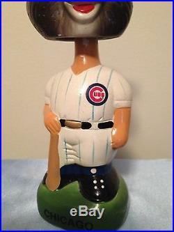 Vintage Chicago Cubs Mascot Green Base Bobblehead Nodder Rare Baseball Souvenir