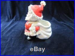 Vintage Christmas Dickson Bobble Head Santa Claus Planter Candy Container Nodder