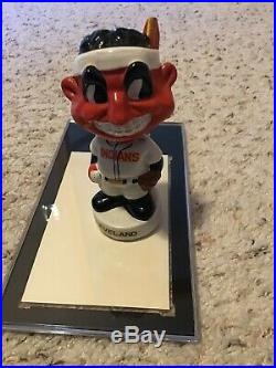 Vintage Cleveland Indians Mascot Mini Bobble Head 4 1/2 Nodder. 1961-63