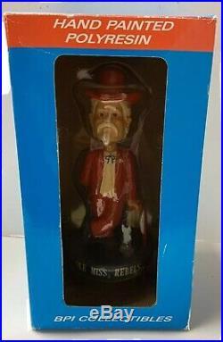 Vintage Col Colonel Reb Ole Miss Rebels Bobblehead Doll With Original Box RARE