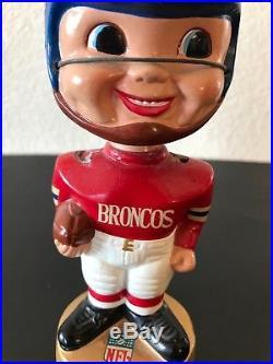 Vintage Denver Broncos Football Player Bobble Head Made in Japan Pro Novelty NFL