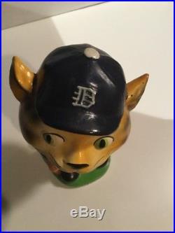 Vintage Detroit Tigers BOBBLEHEAD Nodder Green Base Japan 1962 Original Clean NM