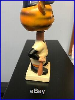 Vintage Detroit Tigers Baseball Mascot Bobblehead 1961 Japan Ivory White Base