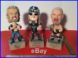 Vintage Diamond Dallas Page Hollywood Hogan Goldberg Wrestling Nodder Bobblehead