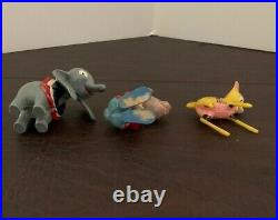 Vintage Disney Marx Toys Bambi, Dumbo, and The March Hare Bobble Head Nodders