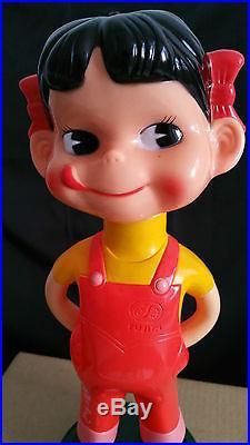 Vintage Fujiya Bobbing Bobble head Peko Ltd Ed Promo Advertising Mascot Premium