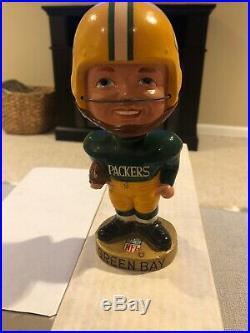 Vintage Green Bay Packers Japan Bobblehead 1967 Real Face RARE Original