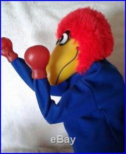 Vintage KU Kansas Jayhawks NCAA Bobblehead Boxing Punching Puppet, Rare
