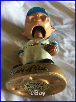 Vintage Kansas City Royals Bobble Head Nodder Bobbing Head Gold Base No BOX