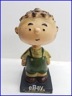 Vintage Lego Japan Vintage Peanuts Pig Pen Nodder Bobble Head Figure RARE