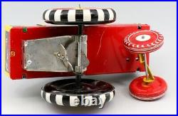 Vintage Linemar Mechanical Dipsy Car Bobble Head All Tin Donald Duck For Repair