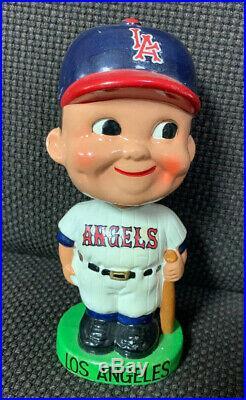 Vintage Los Angeles Angels Baseball 1960s Bobblehead Nodder Green Base Nice