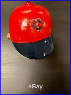 Vintage Minnesota Twins Bobble Head Bobblehead Nodder Round Green Base