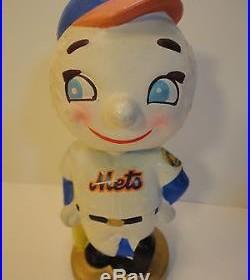 Vintage Mr Met 1960s Bobblehead Nodder Bank NY METS Baseball head