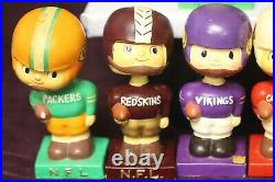Vintage NFL Football Bobbleheads/nodders Lot Of 8! 1960-1963 Awesome