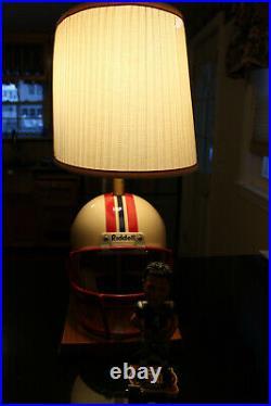 Vintage NFL New England Patriots Table Lamp Light Vinatieri Bobblehead Works