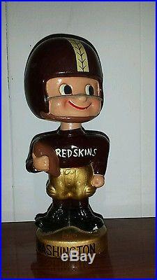 Vintage NFL Washington Redskins Football Bobble Head toes up 1960's Japan