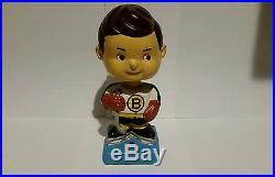 Vintage NHL 1960's Boston Bruins Blue Base Nodder Bobblehead