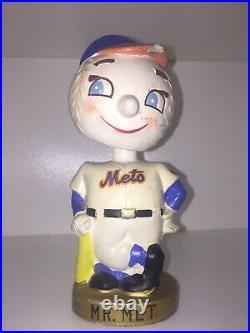 Vintage New York Mets MR MET Bobblehead Nodder Coin Bank