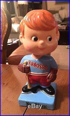 Vintage New York Rangers Hockey Bobble Head