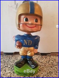 Vintage Notre Dame Bobblehead Japan made FREE Shipping