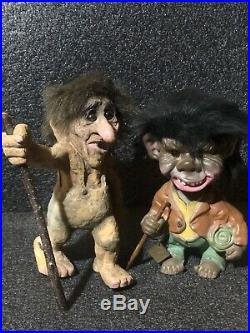 Vintage Nyform Norway 10 Troll Grandfather + Bobblehead Heico Ugly Witch Troll