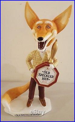 Vintage OLD SPECKLED HEN Bobblehead Bar Store Advertising Bottle Display Sign