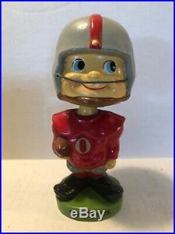 Vintage OSU Ohio State University Football Buckeyes Bobble Head Nodder TOES UP