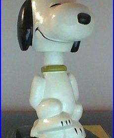 Vintage Peanuts Snoopy Lego Nodder Bobblehead Rare Condition