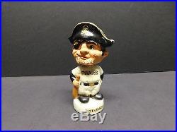 Vintage Pittsburgh Pirate BOBBLE HEAD Nodder White Base