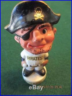 Vintage Pittsburgh Pirates Bobble Head, 1960's Bucco