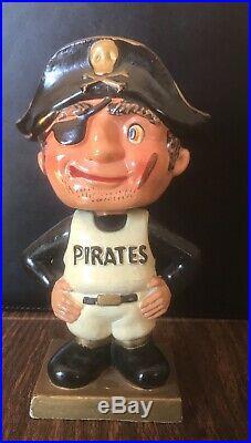 Vintage Pittsburgh Pirates Gold Square Base Nodder Bobblehead