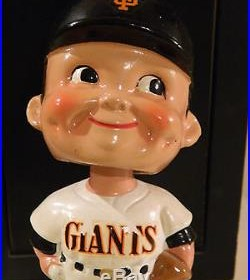 Vintage San Francisco Giants Baseball Nodder Bobblehead, Made in Japan